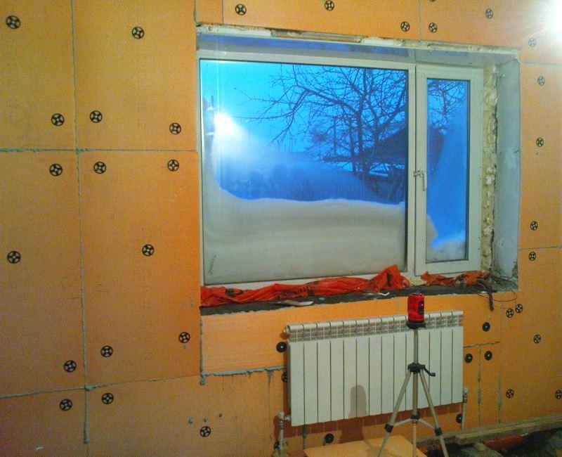 Утеплить дом внутри